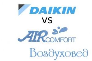 Сравнение очистителей воздуха Daikin и Aircomfort